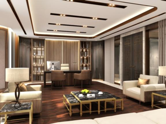 金茂大廈21F辦公裝修工程(2015) 1000平方米