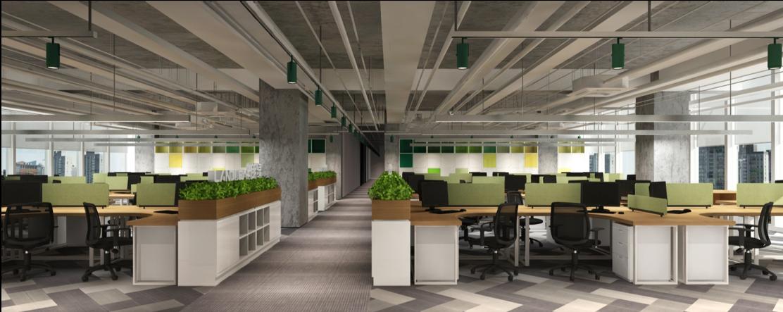 朗綠集團(上海)總部辦公裝修工程(2015) 1000平方米